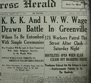 IWW Versus KKK in Maine